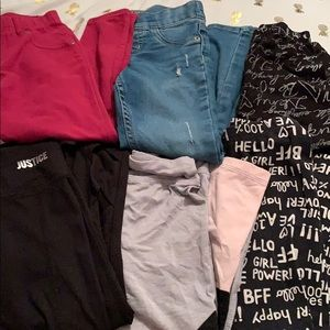 Adorable girls pants bundle justice dkny Carter's